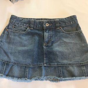Old Navy Jean Skirt with frayed Bottim